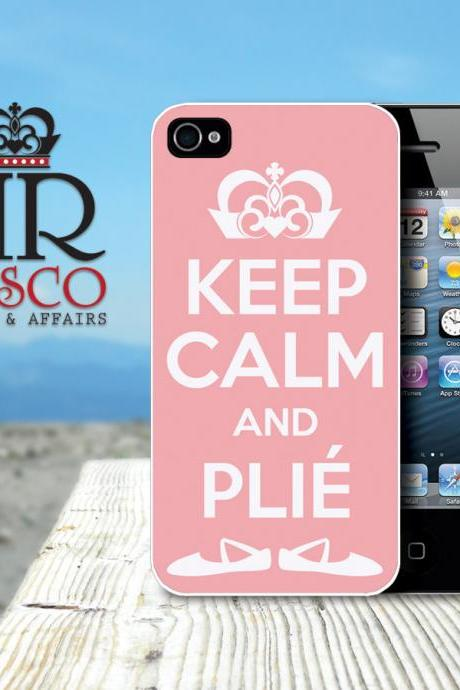 Keep Calm and Plie iPhone Case, iPhone 4 Case, iPhone 4s Case, Ballet iPhone Case, Custom iPhone Case, Pink iPhone Case (87)