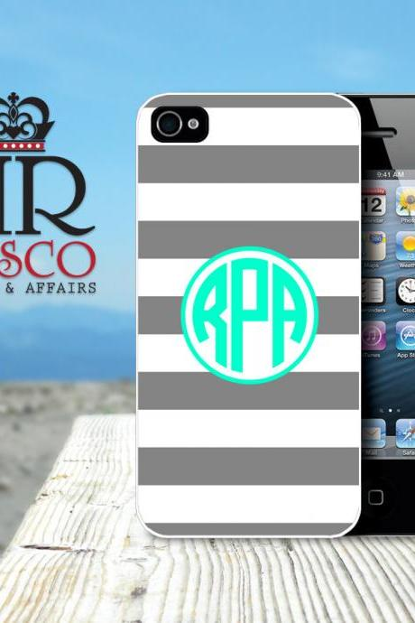 iPhone 4 Case, iPhone 4s Case, Personalized iPhone Case, Monogram iPhone Case, Stripes iPhone Case, Green iPhone Case (84)