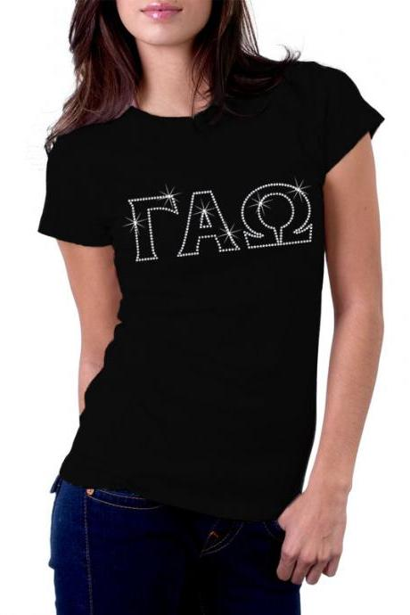 Custom Greek Letter Sorority Rhinestone Shirt