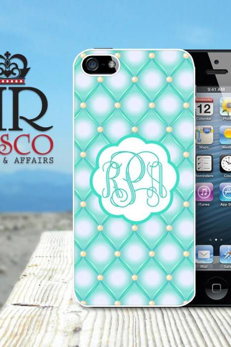 iPhone 5 Case, Personalized iPhone Case, Monogram iPhone Case, Tufted iPhone Case, Ornate iPhone Case, Green iPhone Case (83)