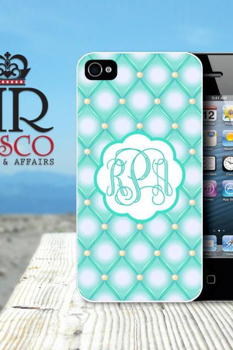 iPhone 4 Case, iPhone 4s Case, Personalized iPhone Case, Monogram iPhone Case, Tufted iPhone Case, Green iPhone Case (83)