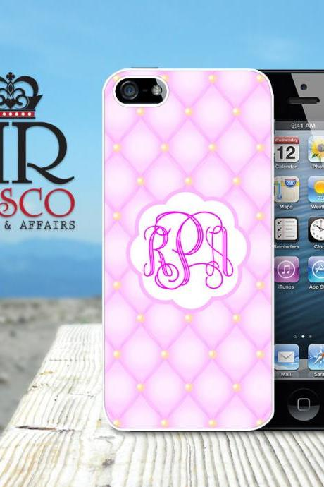 iPhone 5 Case, Personalized iPhone Case, Monogram iPhone Case, Tufted iPhone Case, Ornate iPhone Case, Pink iPhone Case (82)