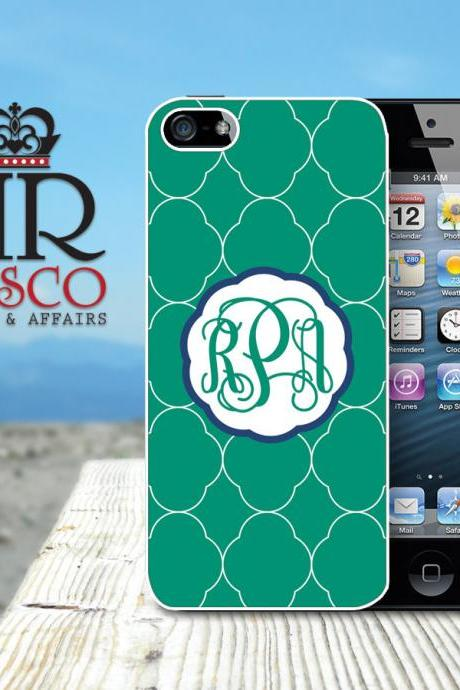 iPhone 5 Case, Personalized iPhone Case, Monogram iPhone Case, Green iPhone Case, Ornate iPhone Case (81)