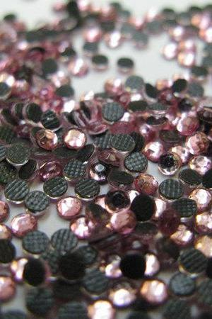 SS10 Light Rose Hotfix Rhinestones 144 Pieces