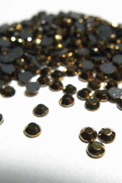 SS10 Gold Hematite Hotfix Rhinestones Crystal 144 Pieces