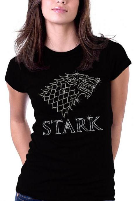 Game of Thrones Shirt, Game of Thrones Rhinestone Shirt, House of Stark