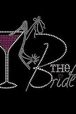 The Bride Rhinestone Iron On Transfer Motif DIY Crystal