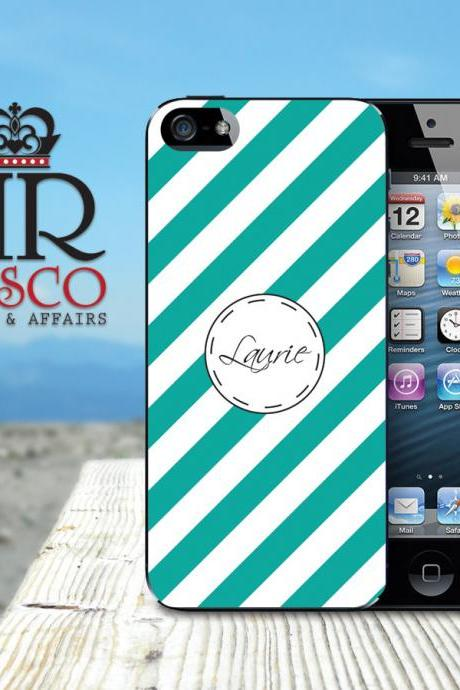 iPhone 5 Case, iPhone Case, Personalized iPhone Case, iPhone Stripe Case