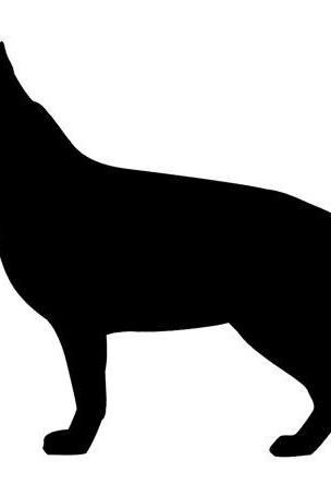 SALE - German Shepherd Dog Silhouette Vinyl Decal for Car Window and Laptops, Mackbook Air