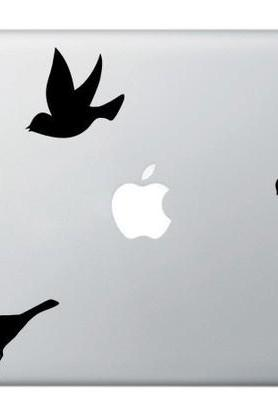 Buy 2 get 1 Free - THREE LITTLE BIRD - vinyl sticker, decal for macbook, macbook pro, laptops