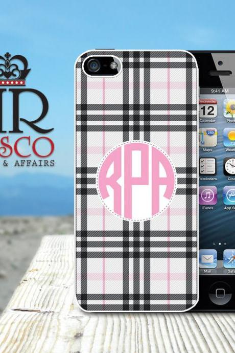 iPhone 5 Case, Monogram iPhone Case, Personalized iPhone Case, Plaid iPhone Case (67)
