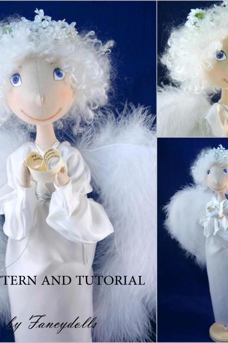 Cloth Doll Sewing Pattern & Tutorial Angel PDF DIY