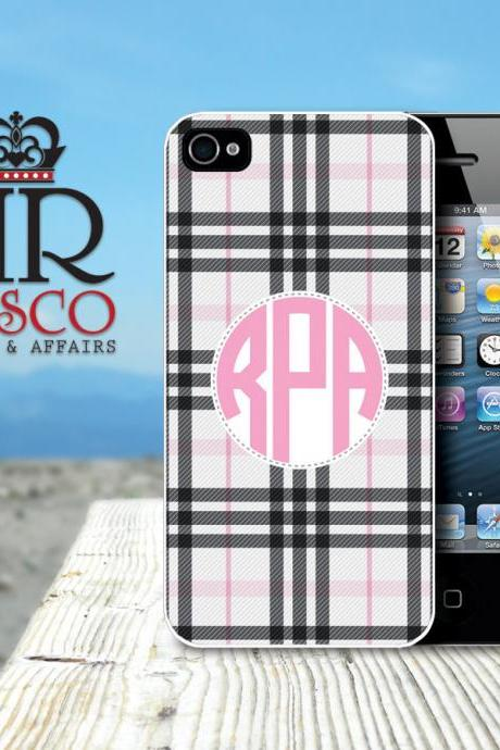 iPhone 4 Case, iPhone 4s Case, Monogram iPhone Case, Plaid iPhone Case (67)