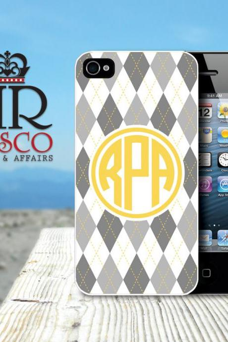 iPhone 4 Case, iPhone 4s Case, Monogram iPhone Case, Argyle iPhone Case (65)