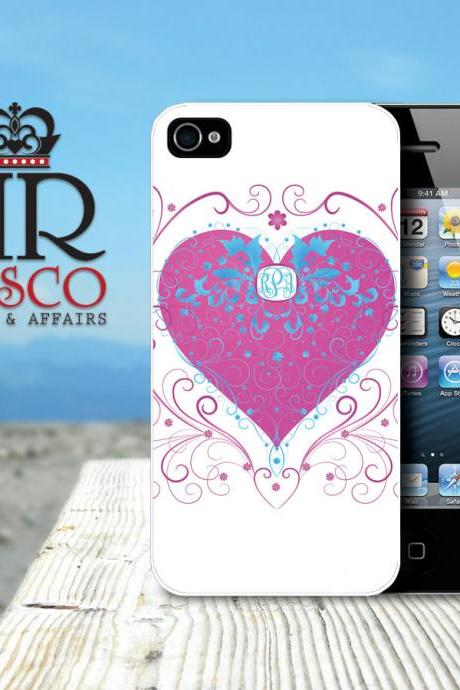 iPhone 4 Case, iPhone 4s Case. Heart iPhone Case, Personalized iPhone Case (59)