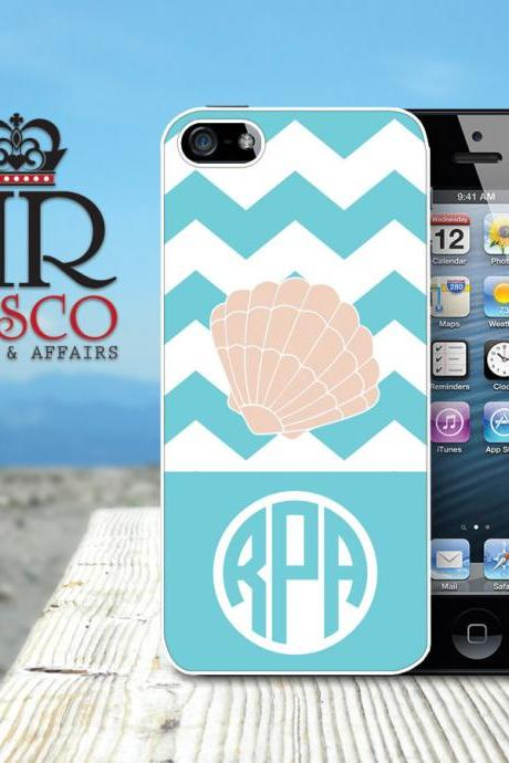 iPhone 4 Case, iPhone 4s Case, Seashell iPhone Case, Monogram iPhone Case (52)
