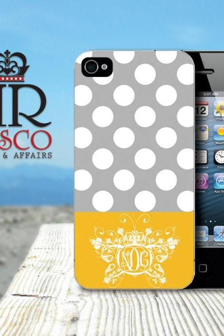 iPhone 4 Case, iPhone 4s Case, Polka Dot iPhone Case, Butterfly iPhone Case (55)