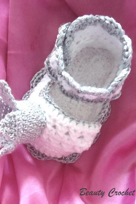 Princess Crochet Shoes Pattern