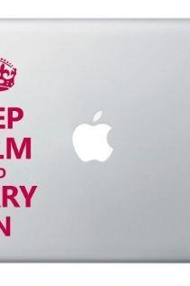 Keep Calm Carry On - Notebook Decal Laptop Cover Sticker Macbook ,Apple,MAC -Buy 2 get 3