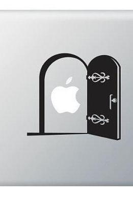 Stickers Macbook Door, Gate - This Vinyl Decal ideal for Macbook, IPad, Laptops, Car and more.