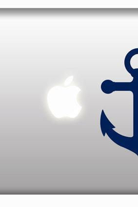 Anchor Mac Decal Stickers Vinyl Laptops Window Car Bumper Sticker