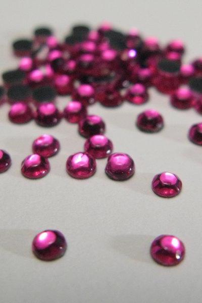 SS10 Rose Hotfix Rhinestones Crystal 144 Pieces