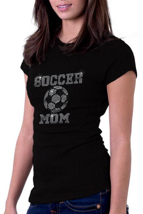 Custom Personalized Soccer Rhinestone Shirt