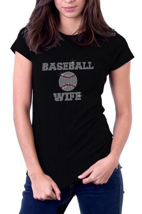 Custom Personalized Baseball Rhinestone Shirt