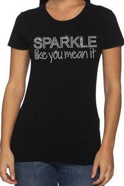 CLEARANCE SALE - Sparkle Like You Mean It Rhinestone Shirt