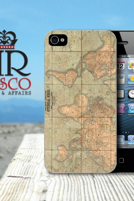 iPhone Case, iPhone 4 Case, iPhone 4s Case, Vintage Map iPhone Case, Vintage iPhone Case