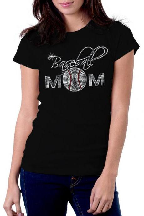 Baseball Mom 1 Rhinestone Shirt