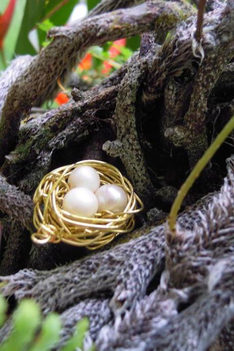 Fresh Water Pearl Bird Nest Pendant