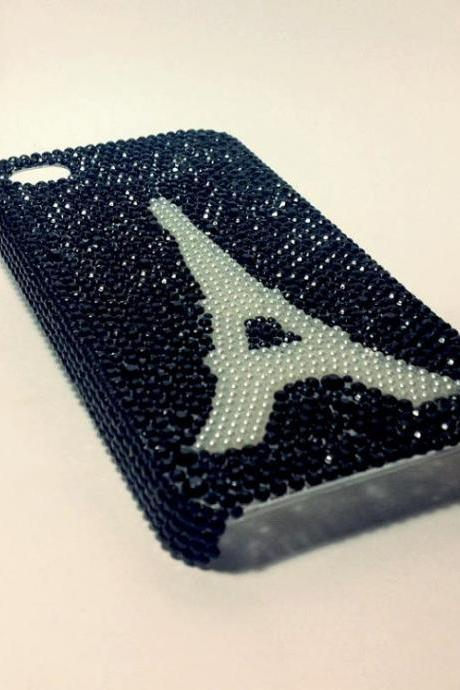 Paris cell phone case bling case rhinestone case