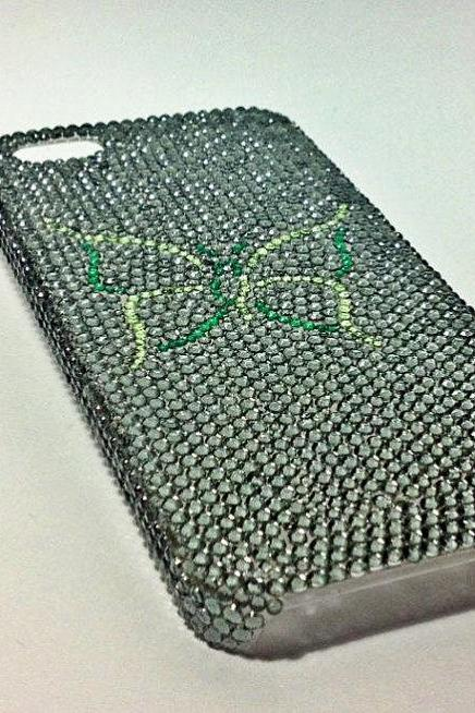 Butterfly iPhone case bling case rhinestone case handmade case