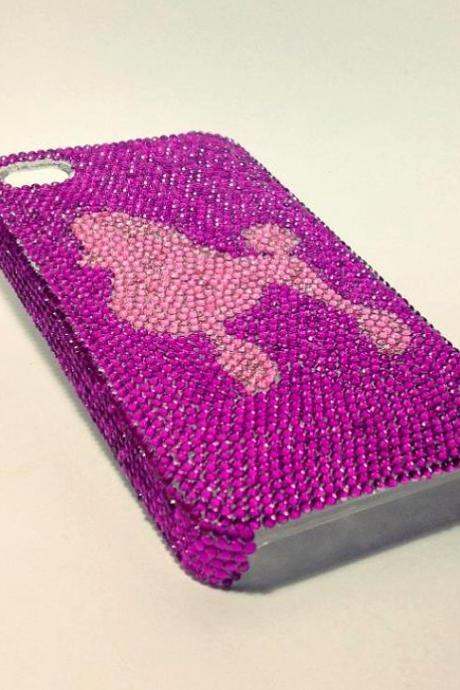 Poodle iPhone case rhinestone case handmade case custom case
