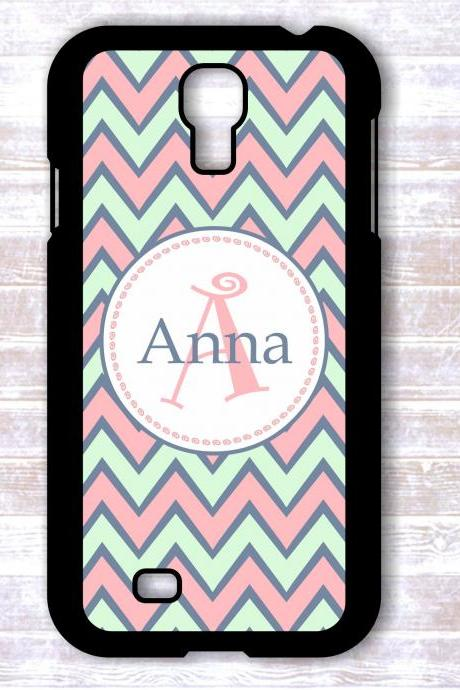 Monogrammed chevron Samsung Galaxy S4 case - Personalized Hard Cases for Phones