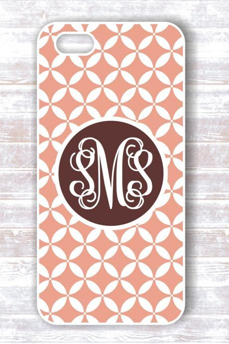 Monogrammed damask Iphone 4/4S case - Personalized Hard Cases for iphones