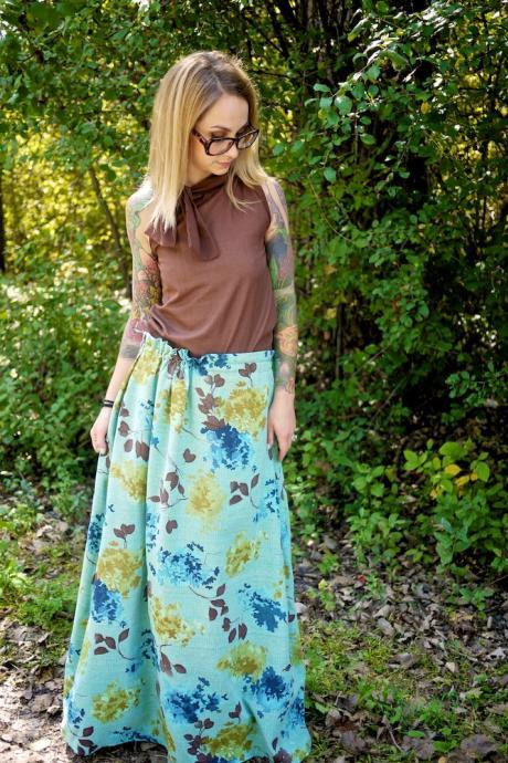 Red Carpet Maxi Skirt
