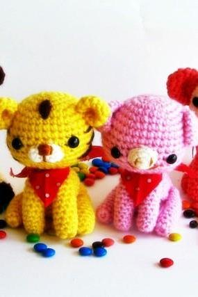 pdf animal friend amigurumi crochet pattern-luulla