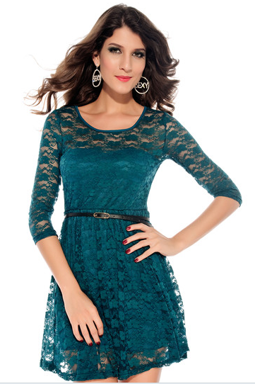 Lace long sleeve dress elegance