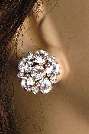 Reserved listing for Tammra for 7 bridesmaids rhinestone Brilliant sparkle post earrings with 15% multiple order discount