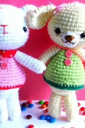 pdf emma and emily kitten amigurumi crochet pattern-luulla