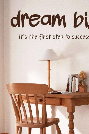 Dream BIG Vinyl Wall Lettering Words Decal Art Quotes - big dreams motivation quotes