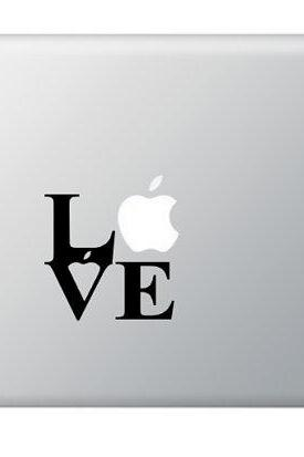Love Apple(s) Vinyl Decal for Apple Macbook, Laptops, IPad, Art Stickers Macbook Love Decals