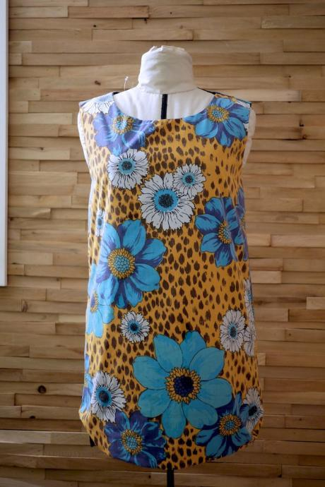 30 Dollar SALE Mod Dress/Tunic Leopard