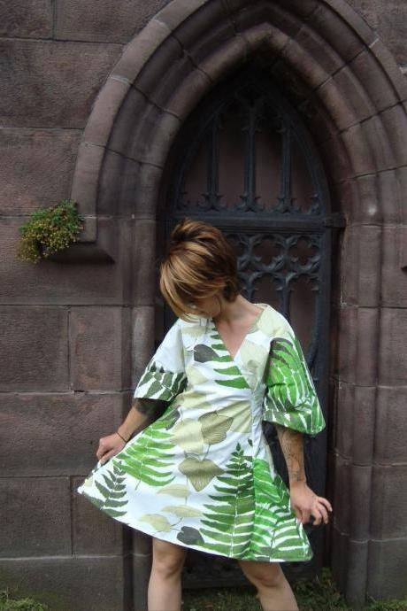 Custom Fern Dress Made with Repurposed, Vintage Materials