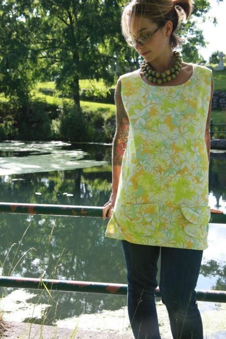 Custom Vintage Flower Tunic II