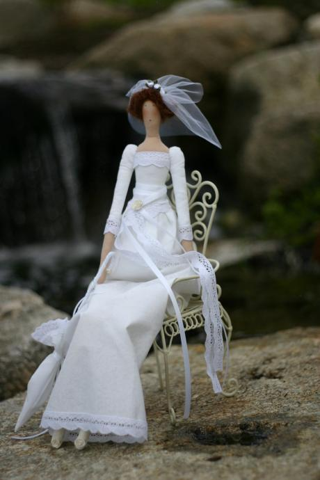Tilda Fabric doll Bride Julia / wedding gift / interior doll - custom order