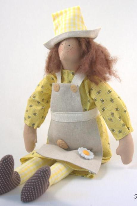 Cloth Doll Bee Keeper