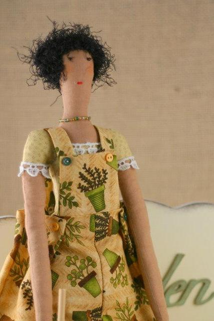 Art cloth doll Martha for home decor